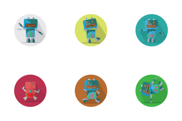 Robots Expression Icon Icon Pack