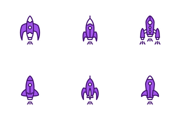 Rocket Launch Icon Pack