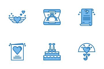 Romance Blue Icon Pack