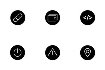 Round Web Icon Black Icon Pack