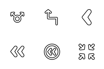 Rounded Arrows Icon Pack