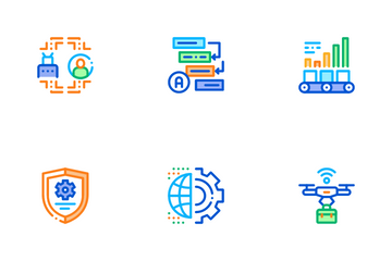 Rpa Cyber Technology Icon Pack