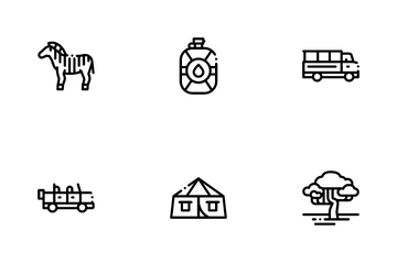 Safari Travel Icon Pack