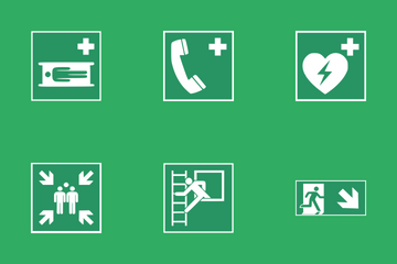 Safe Conditions Signs Icon Pack