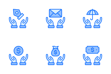Safe Hand Support Icon Pack