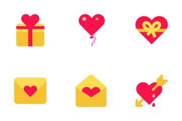 Saint Valentine Icon Set Icon Pack