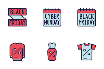 Sales (Black Friday) - Blue Red Icon Pack