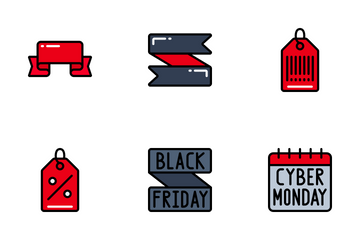 Sales (Black Friday) - Bright Fill Icon Pack