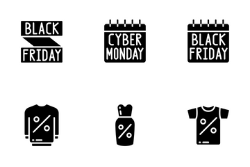 Sales (Black Friday) - Glyph Icon Pack