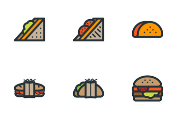 Sandwiches Icon Pack