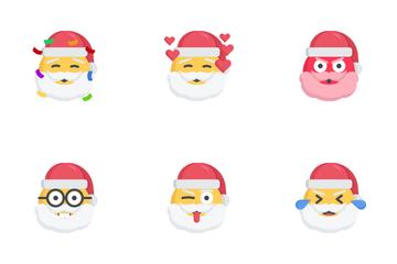 Santa Emoji Icon Pack