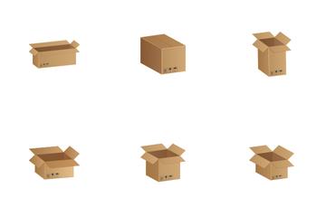 Сardboard Box Icon Pack