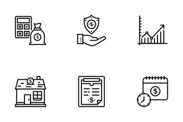 Savings And Investments Icon Pack