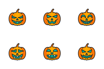 Scary Pumpkin Icon Pack