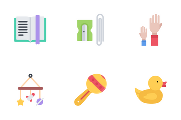 School And Childhood Icon Pack