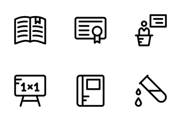 School And Education Line Icons 1 Icon Pack