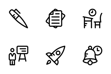 School And Education Line Icons 2 Icon Pack