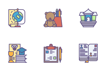 School And Science Icon Pack