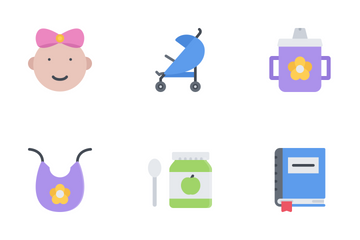 School & Childhood Flat Icon Pack