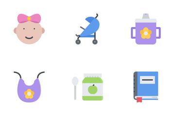 School & Childhood Flat Icon Pack
