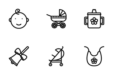 School & Childhood Outline Icon Pack