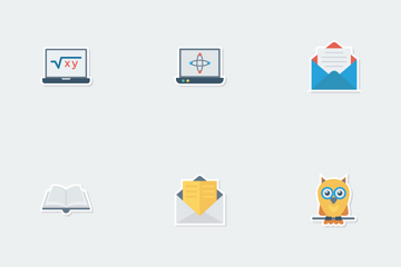 School & Education Flat Paper Icons Icon Pack
