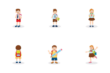 School Kids Icon Pack