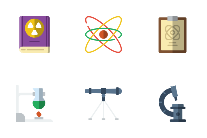 Science 2 - Flat Icon Pack