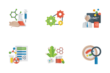Science And Technology Flat Icons Icon Pack
