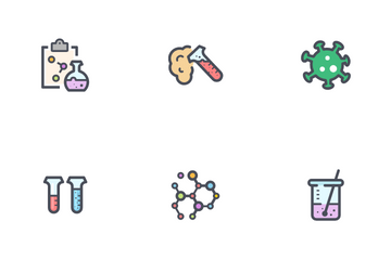 Science And Virus Icon Pack