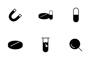 Science Glyph Icon Pack