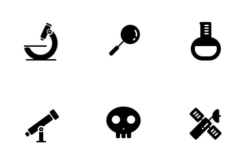 Science Lab Glyph Icon Pack