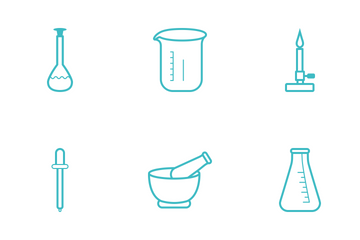Science Minimalistic Cyan Line Icon Pack