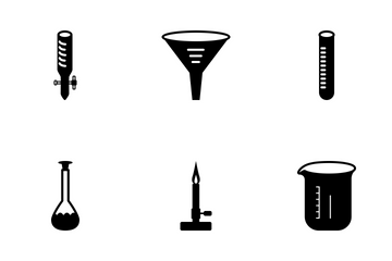 Science Solid Black  Icon Pack
