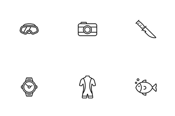 Scuba Diving Icon Pack