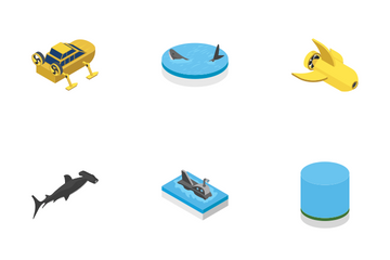 Scuba Diving Snorkeling Underwater Tools Icon Pack
