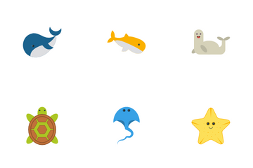 Sea Animal Icon Pack