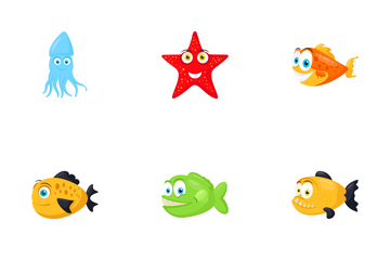 Sea Animals Icon Pack