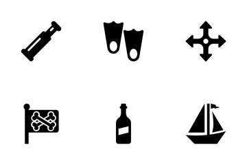 Sea Nautical Pirate Maritime Icon Pack