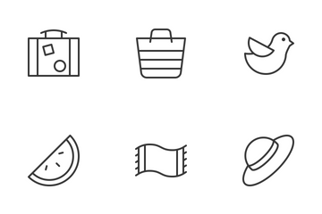 Sea Summer Vacation Icon Pack