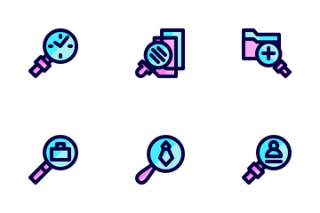 Search Filled Line Icon Pack