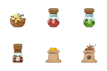 Seasoning In Kitchen Icon Pack