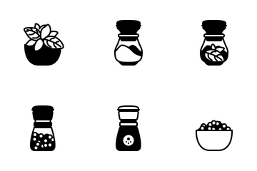 Seasoning In Kitchen (glyph) Icon Pack