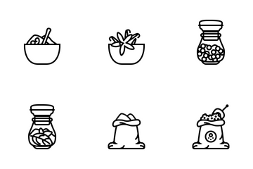 Seasoning In Kitchen (outline) Icon Pack