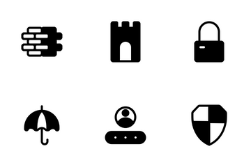 Security Glyph Icon Pack