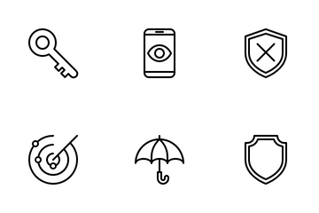 Security Outline Icon Pack