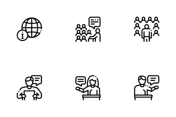 Seminar Conference Icon Pack