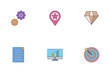 SEO Flat Outline Icon Pack