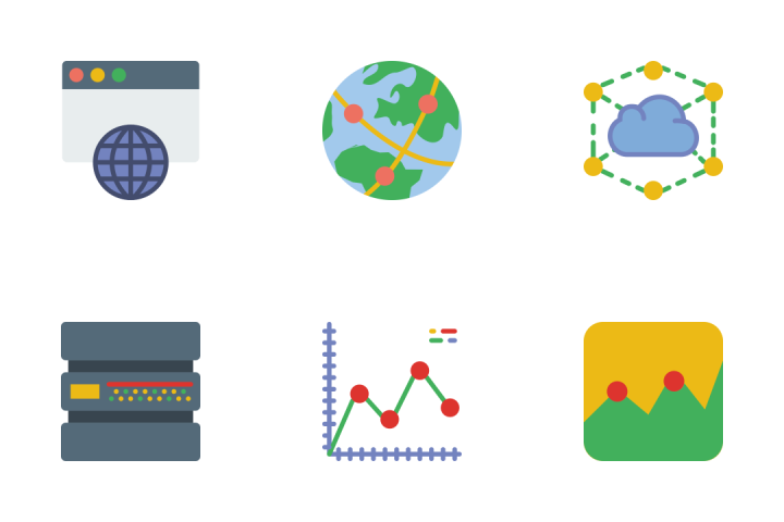 Seo And Analytics - Flat Icon Pack