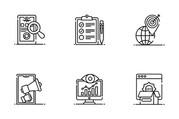 Seo And Freelancing Icon Pack